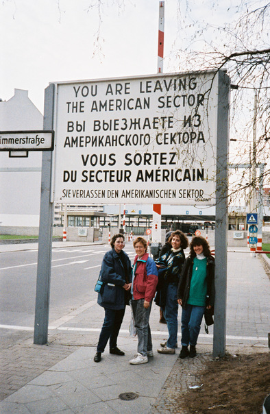 Checkpoint Charlie on the Berlin field trip 1989