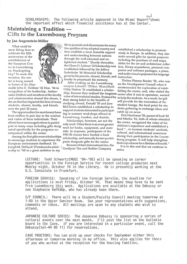MUDEC newsletter from 1988 second page