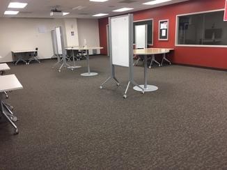 Reconfigured Med Lib Collaborative Study Room