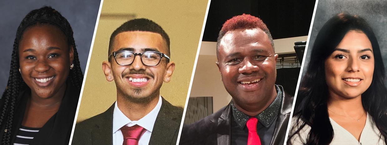 Images of recipients of Alumni & Jamina Barnes Scholarship