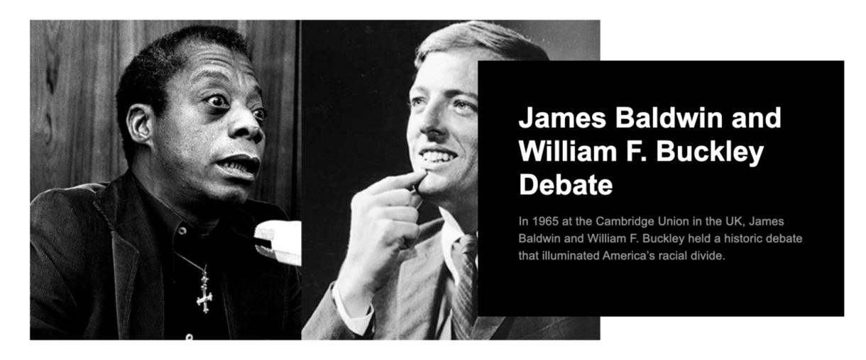 James Baldwin and William F. Buckley Debate