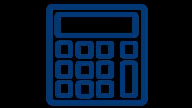 Calculator Rental Icon Button