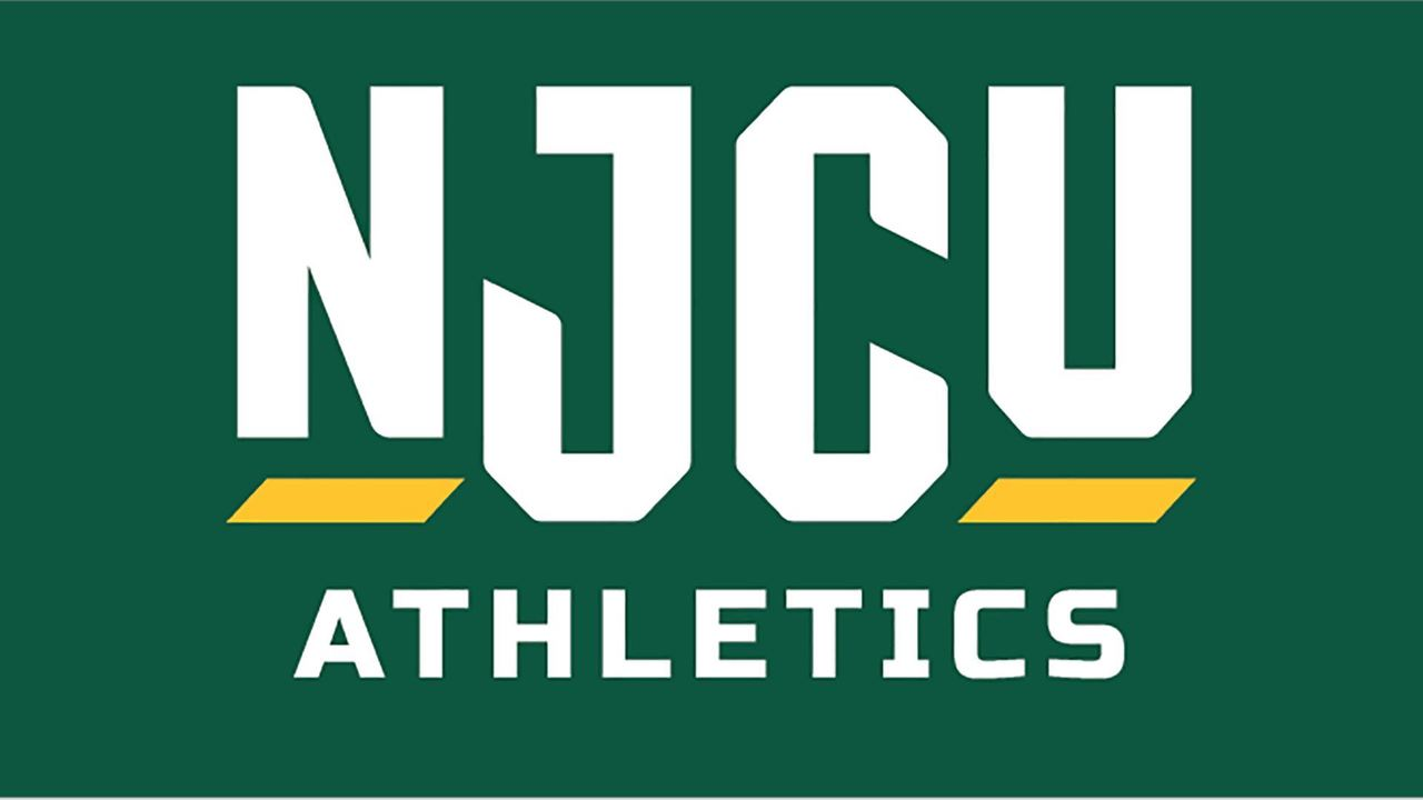 NJCU Athletics Logo White Text on Green Background