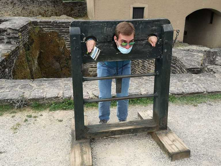 Student in a pillory