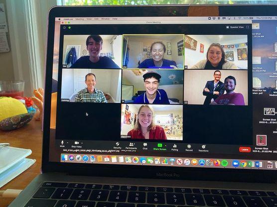 Orientation 2020 coordinators on a Zoom meeting