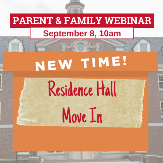 Residence Hall Move In Webinar, Sept. 8th 10am