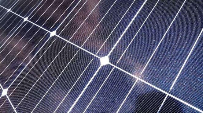 Photo of a solar array.