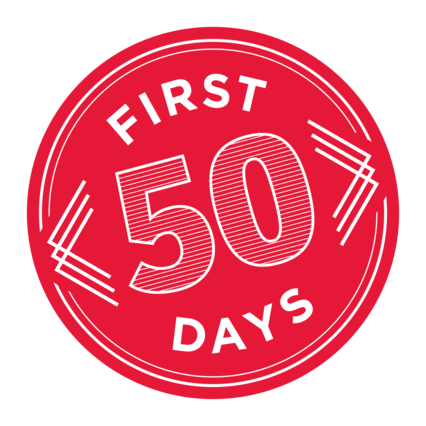 First 50 Days logo