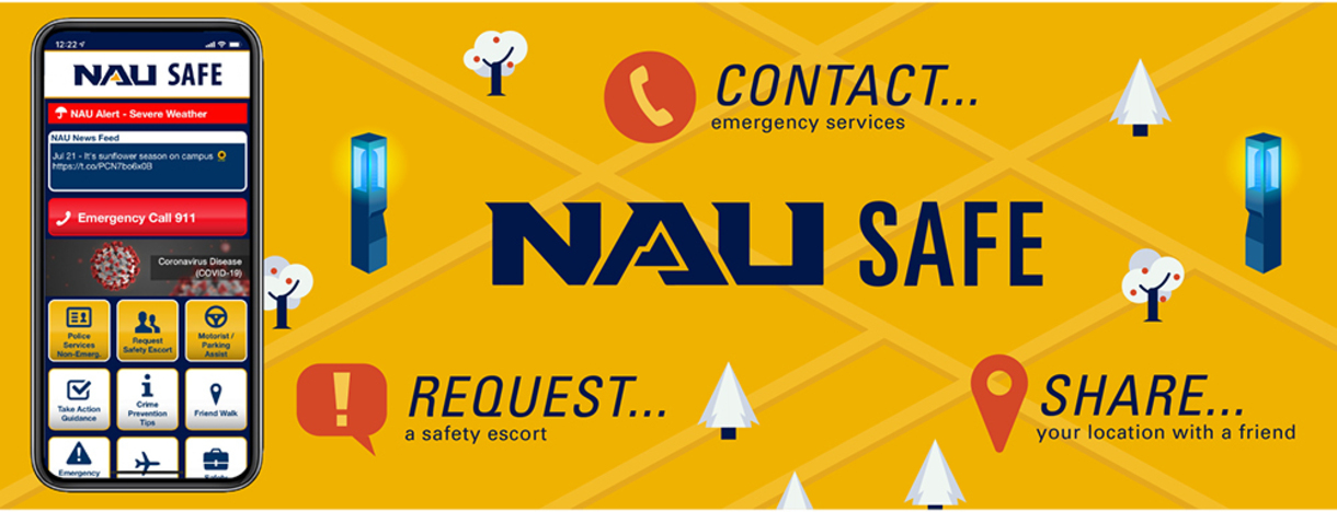NAU Safe is available for download from your app store.