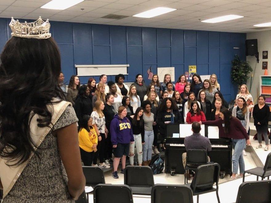 Nia with Millbrook High School Advanced Choir