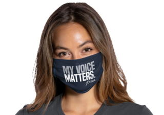 My Voice Matters face mask