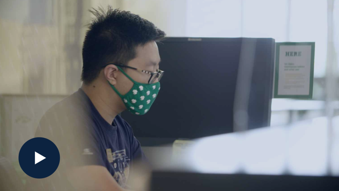 Photo of student wearing a face mask.