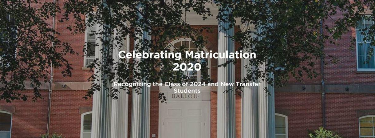 Celebrating Matriculation 2020
