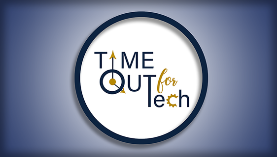 Graphic of logo that says Time Out for Tech