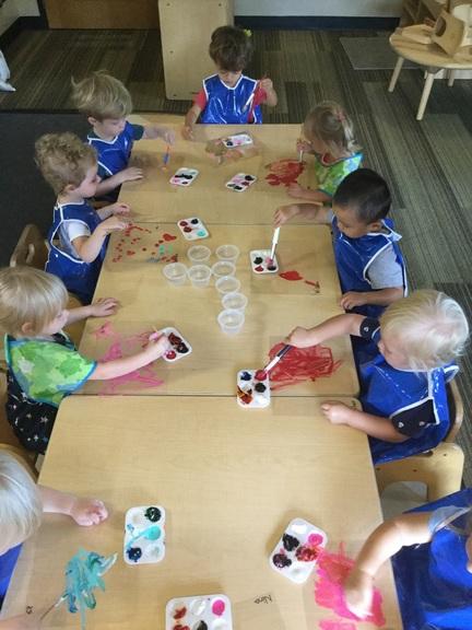 Toddler 1 painting