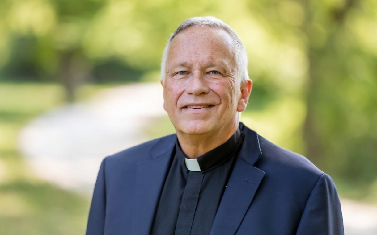 Headshot of Father James Bracke, staff chaplain
