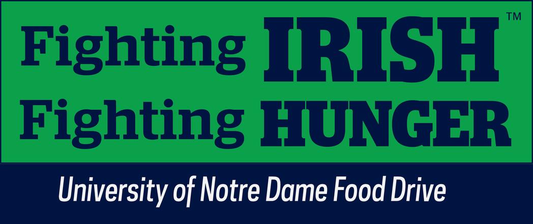 Graphic of Fighting Irish Fighting Hunger food drive