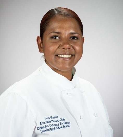 Photograph of pastry chef Sinai Vespie
