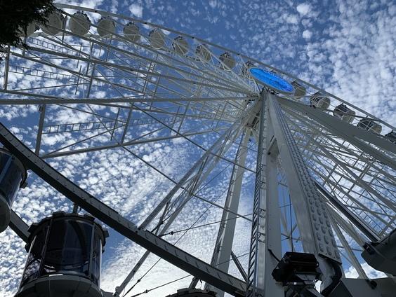 Ferris Wheel with sky