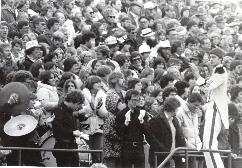 Football game at Central College circa 1977