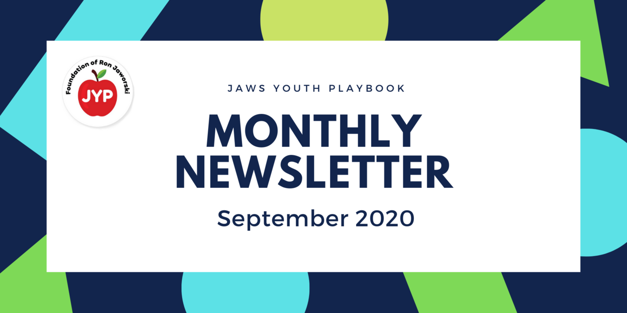 Jaws Youth Playbook Monthly Newsletter - September 2020