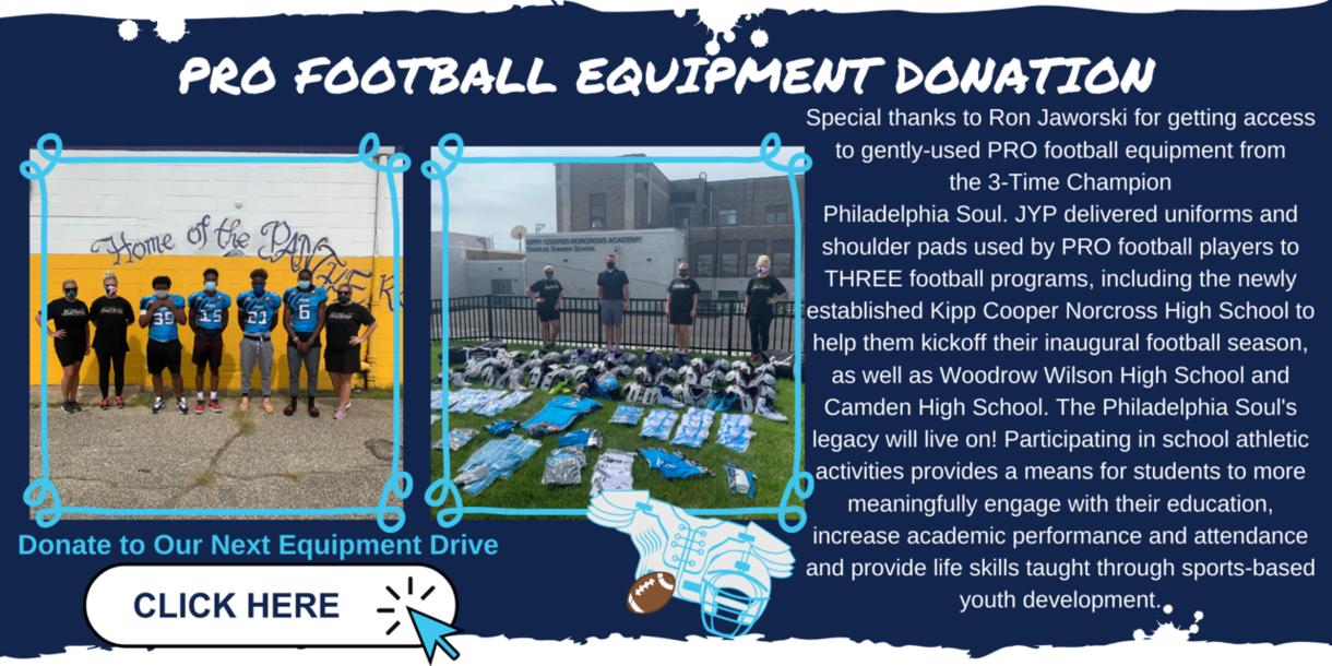 JYP Donates Pro Football Equipment