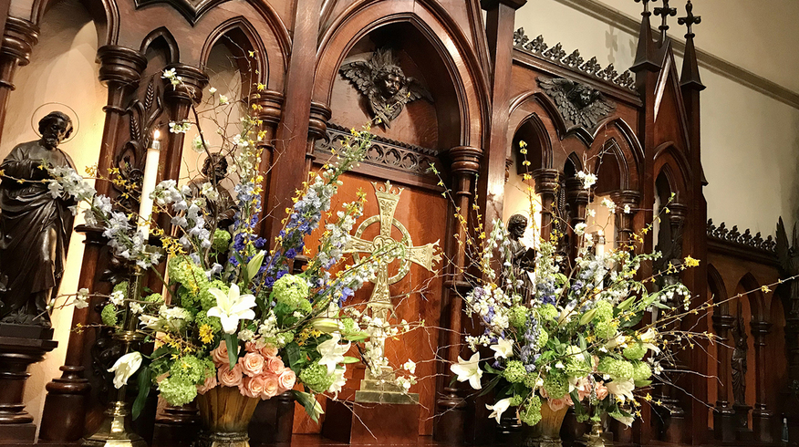 Flowers at the high altar