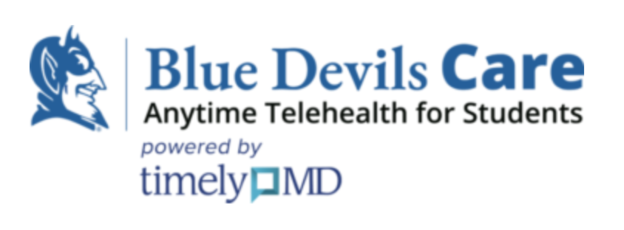 A logo with the Blue Devil at left, and the words,