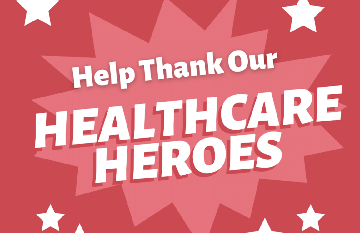 Healthcare Heroes thank you webpage link