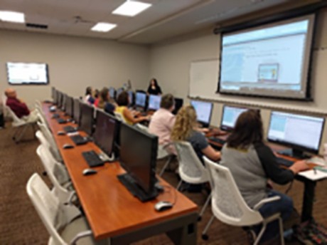 teachers in a computer classroom learning environment