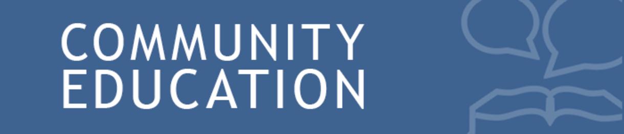 community education banner