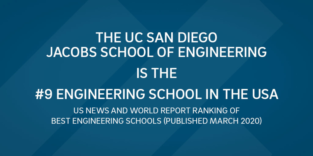 UC San Diego Jacobs School of Engineering ranks #9 in USA