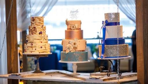 Cakes made by Executive Pastry Chef Sinai Vespie and her team at Notre Dame.