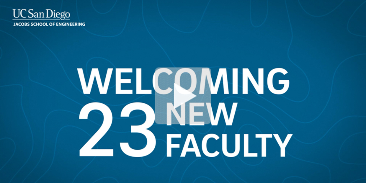 Text: Welcoming 23 New Faculty