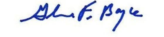 Glenn F. Boyce signature