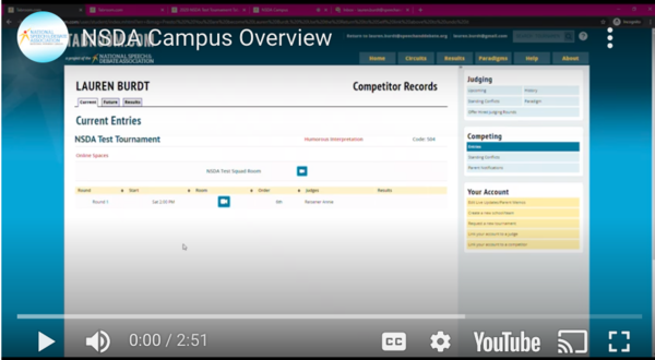 NSDA Campus Overview video