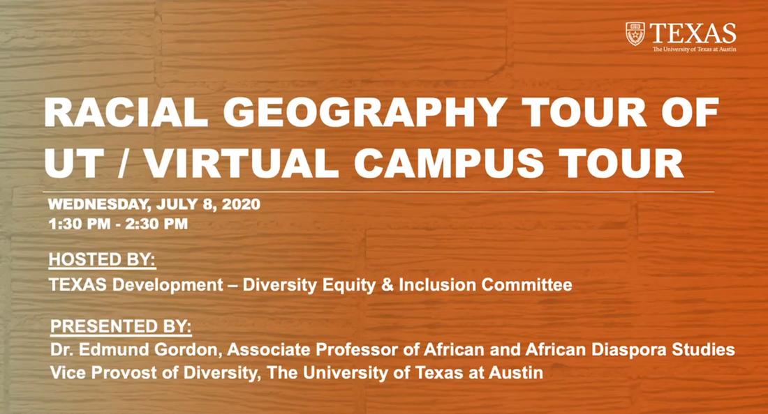 Racial Geography Tour of UT - Virtual Campus Tour