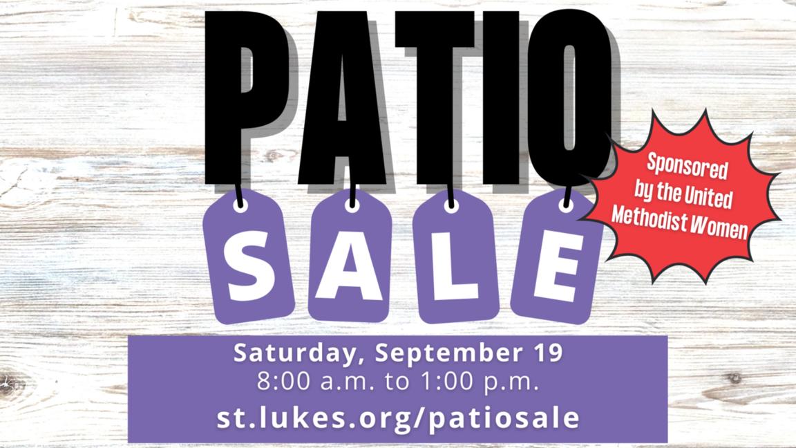 UMW Patio Sale event page