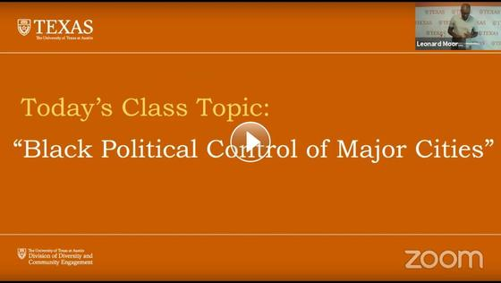 History of The Black Experience: Black Political Control of Major Cities