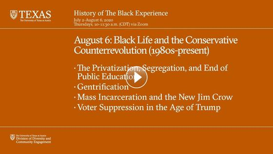 History of The Black Experience: Black Life and the Conservative Counterrevolution (1980s - Present)