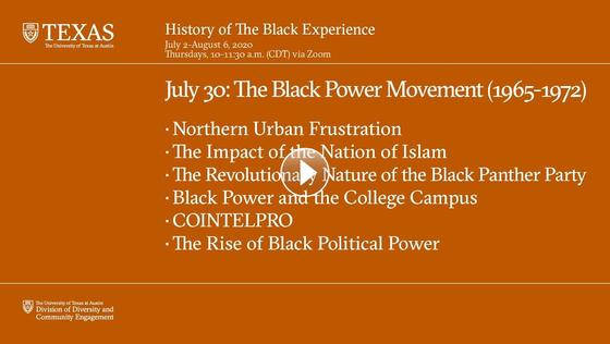 History of The Black Experience: The Black Power Movement (1965-1972)