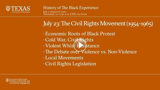 History of The Black Experience: The Civil Rights Movement (1954-1965)