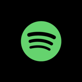 Spotify logo: green circle with black lines