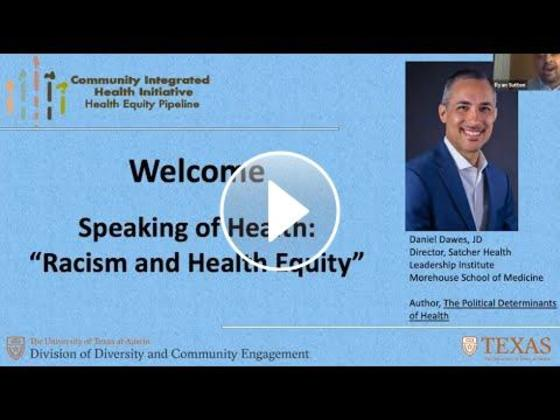 """Speaking of Health: """"Racism and Health Equity"""""""