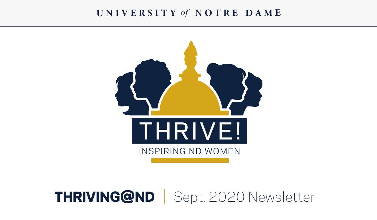 Thriving@ND newsletter September 2020