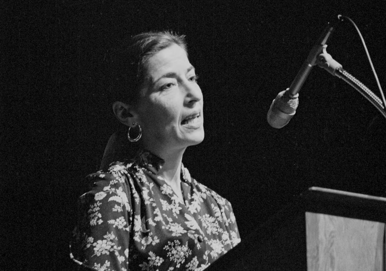 Ruth Bader Ginsburg on campus in November, 1978