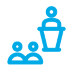 Person at Podium, Icon by ✦ Shmidt Sergey ✦ from the Noun Project