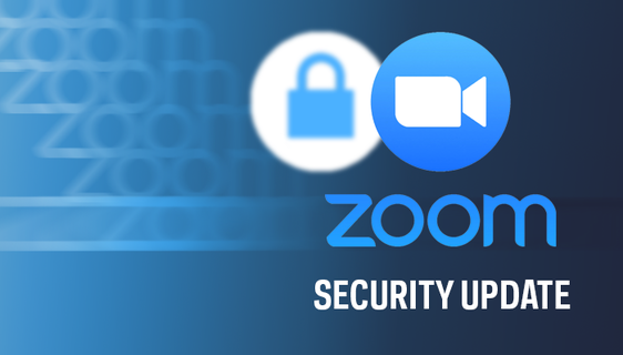Graphic that says Zoom Security Update