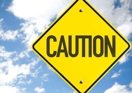 Graphic of a caution sign
