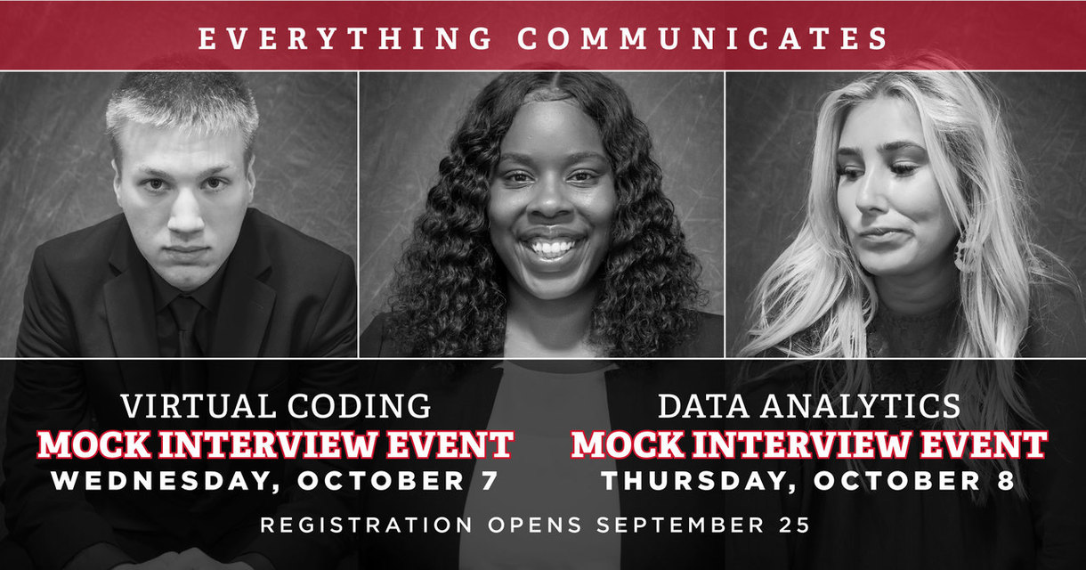 Information included below, Mock Inteview events Oct. 7th and 8th. Registration opens Sept. 25th.